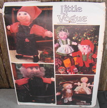 """Little Vogue 1546 Dolls And Clothes Uncut Sewing Pattern 16"""" Doll Body V... - $18.00"""