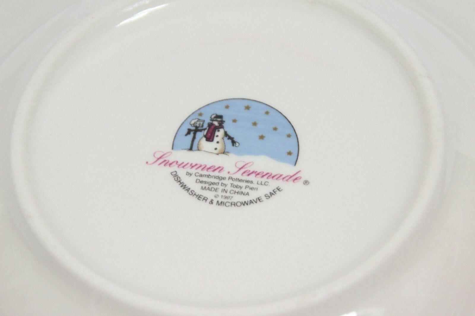 "Snowmen Serenade Rim Soup Bowls Cambridge 8.5"" Set of 12 image 5"
