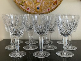Vintage Waterford Lismore Claret Wine Glasses Set of 11 - $225.00