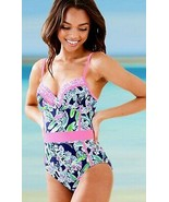 Lilly Pulitzer Palma Deep Sea Navy Sway This Way Swim Underwire Swimsuit... - $142.20
