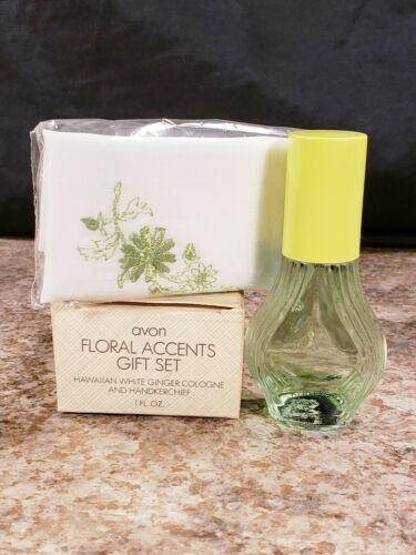 Avon Nostalgic Glow Decanter Wild Jasmine Floral Accents Hawaiian White Ginger