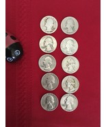 WASHINGTON QUARTERS 90% SILVER VARIOUS DATES FROM 1934 TO 1958 10 COIN - $100.00
