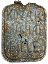 EXTREMELY RARE GERMAN WW2 DOG TAG for DON COSSACK VOLUNTEER, 1941-1944 - $143.55
