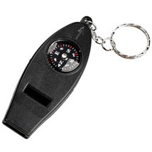 Outdoor 4 in 1 Multifunctional Whistle with Keychain Fitness Sport - $12.90