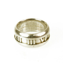 Tiffany and Co Atlas Collection Roman Numbers Silver 925 Ring image 2