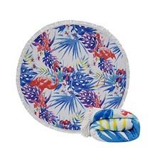 Genovega Thick Round Beach Towel Blanket - Flamingo Hawaii Hawaiian Trop... - $25.57