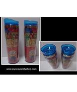 NEW LOT 2 MINIONS Despicable Me Peace Tie Dye 16 oz Plastic Travel Cups Set - $14.99