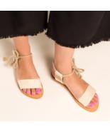CHARLOTTE STONE Bridget Canvas Sandals 41 9.5 - 10 US New $200  - $43.35