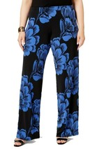 0X Alfani Women's Plus Printed Wide Leg Soft Pants New Luxe Floral Licensed
