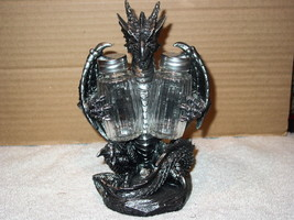 DRAGON BLACKENED SPICE SALT AND PEPPER SHAKER KITCHEN SET - $29.73