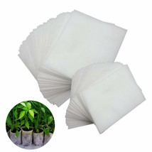 JPSOR 200Pcs Biodegradable Non-woven Nursery Bags Plant Grow Bags Fabric... - $192,58 MXN