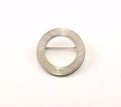 Vintage Round Meze Design Pin/Brooch 925 Sterling BB 824 - $32.44