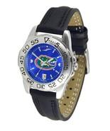 Florida Gators Licensed Women Ladies Sport Leather AnoChrome Watch - $58.90