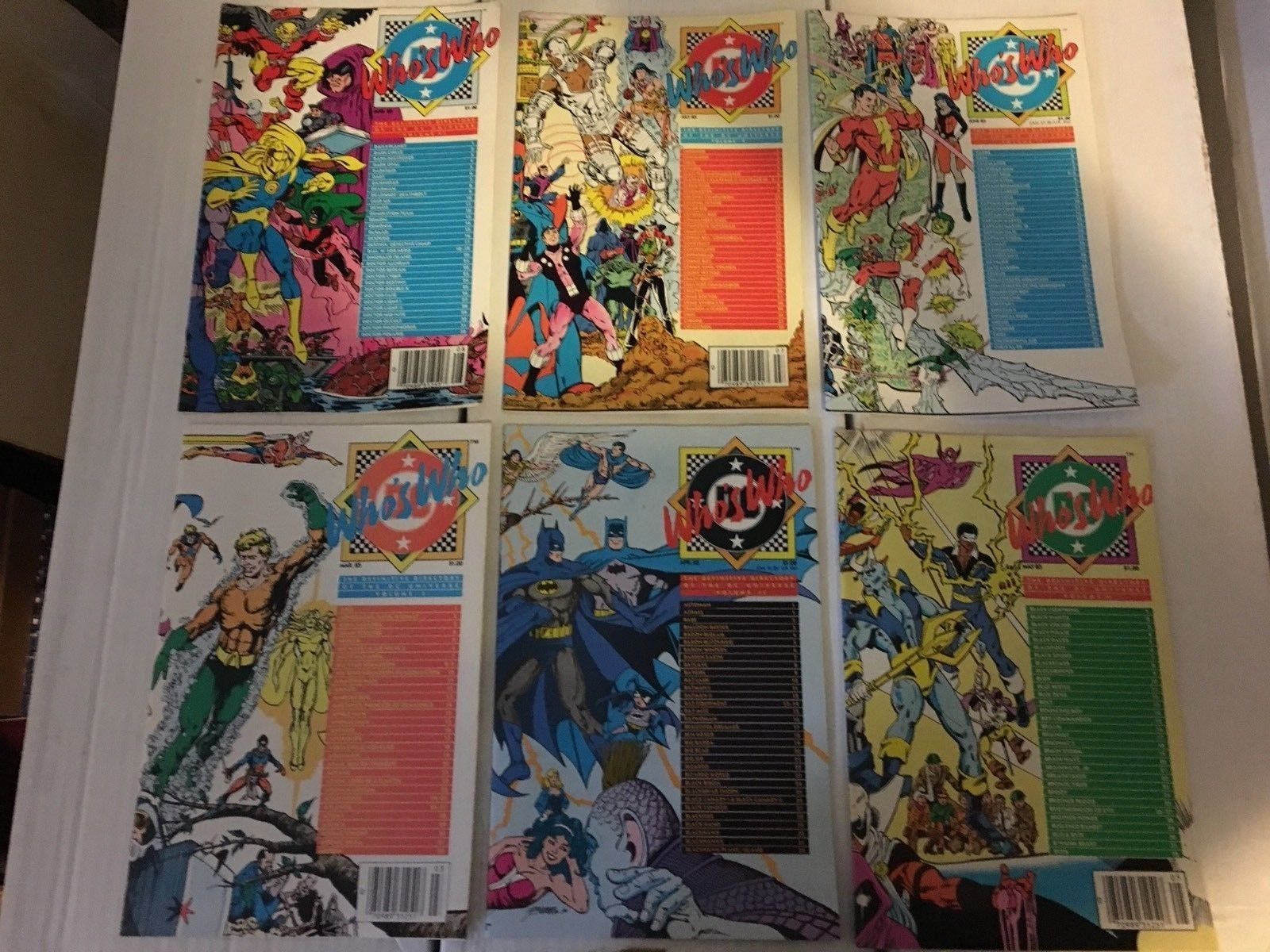 Who's Who #1 2 3 4 5 6 DC Book Lot Of 6 1985 LOT /  Run VF+/NM Condition BatMan