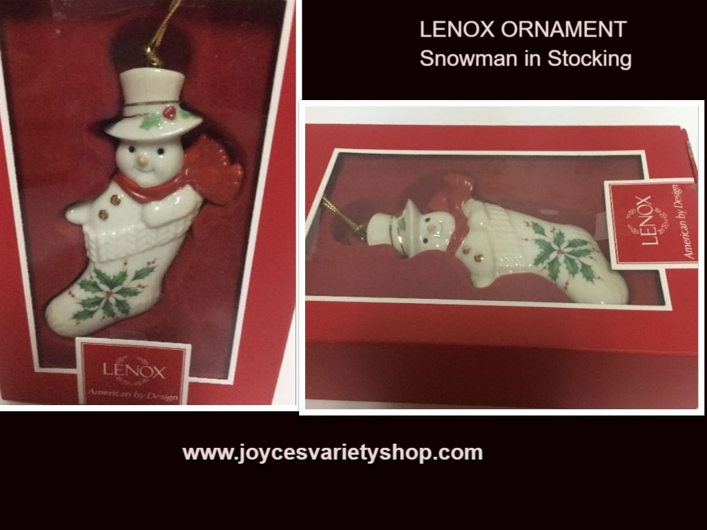 Lenox snowman in stocking web collage