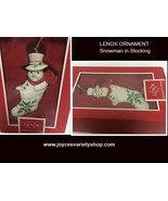 Lenox Santa Snowman In Stocking Ornament - $14.99