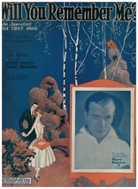 Sheet Music - Will You Remember Me? ~ 1924 ~ Davis ~ Santly ~ Harry Rich... - $8.86