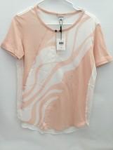 Calvin Klein Women's Short Sleeves Peach/White Blouse Size XS/TP MRSP$44.50 - $12.99