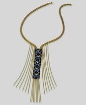 Macys Beaded Chain Fringe Necklace NWT - $15.00
