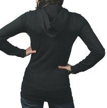 In Gods Hands Logo Womens Rubik Black Grey Fleece Zip Up Hoodie NWT image 3