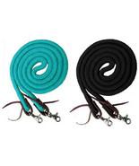 Western Barrel or Roping Horse Reins 8' Cotton Rope Rein w/ Scissor Snap... - $16.80