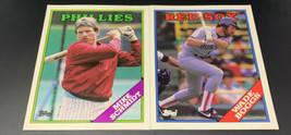 Vtg 1988 Topps Mike Schmidt, Wade Boggs Baseball Card School Pocket Folders 1811 - $17.05