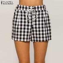 2018 Summer Fashion ZANZEA Women Casual Elastic High Waist Lace Up Pockets Loose - $41.50