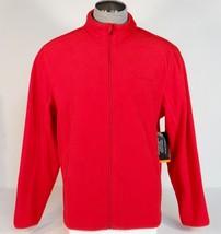 Field & Steam Signature Red Zip Front Fleece Jacket Mens NWT - $52.49