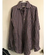 Peter Millar Mens Long Sleeve Plaid Button Down.Dress Shirt Large 100% C... - $20.78
