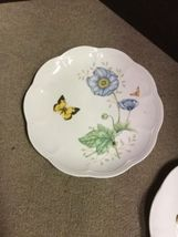 """Set of 2 Lenox Butterfly Meadow Monarch 9 1/4"""" Luncheon Plates image 3"""