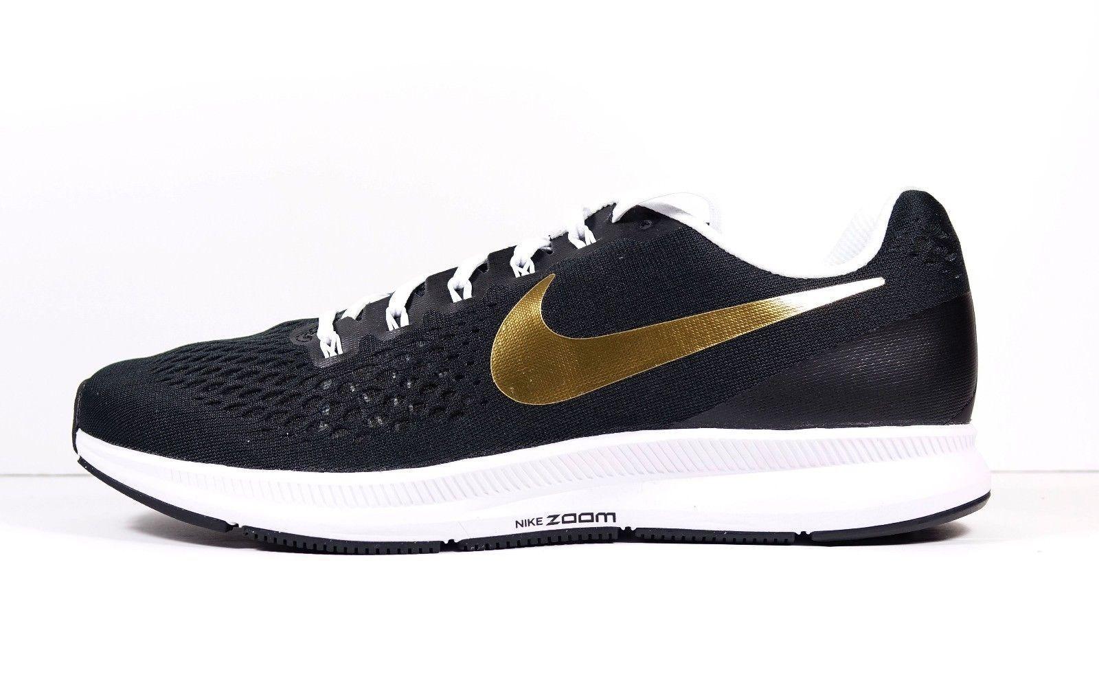Nike Zoom Pegasus 34 iD Black Gold White and similar items