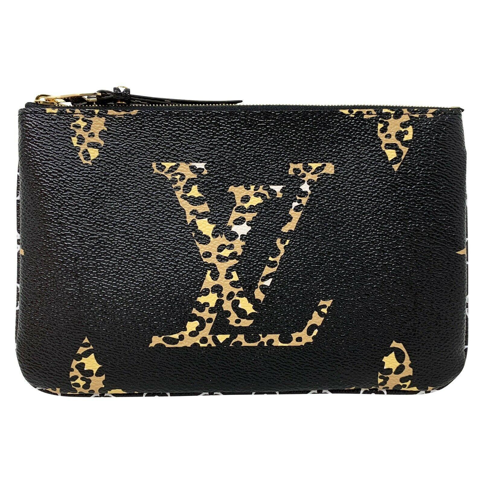 NEW Louis Vuitton Pochette Double Zip Black Jungle Giant Monogram Crossbody Bag image 2