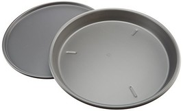 USA Pan Bakeware Aluminized Steel Set of 2 Anodized Pizza Pans, Deep Dis... - $56.45