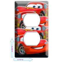 NEW CARS 3 LIGHTNING MCQUEEN DISNEY OUTLET COVER PLATE BOYS GAME ROOM DE... - $8.99