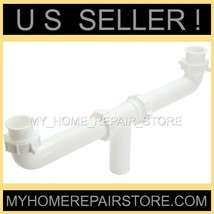"CENTER WASTE OUTLET 1+1/2 "" KITCHEN SINK DRAIN CROSS OVER ASSEMBLY - FRE... - $14.60"