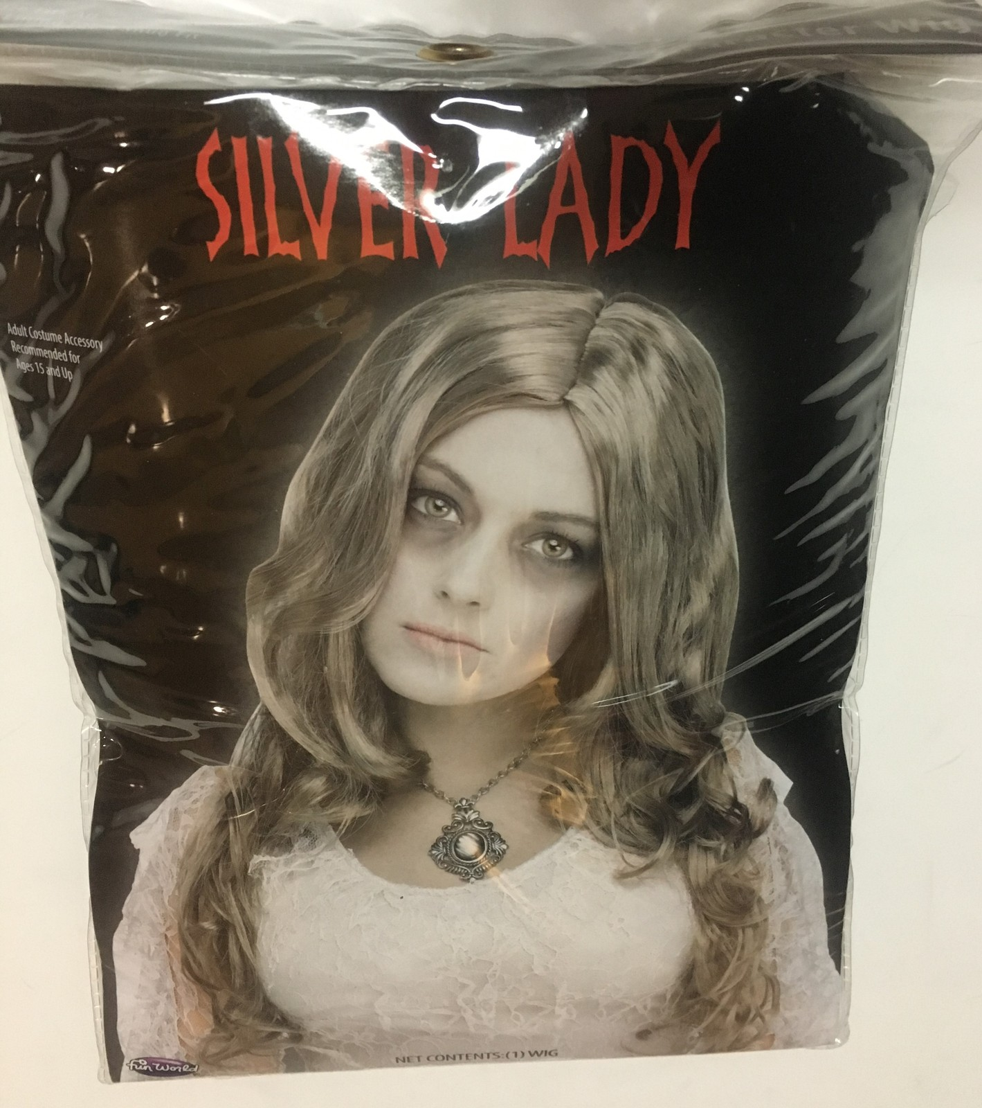 Silver Lady Costume Wig One Size Fits All