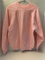 Vintage Tultex Max Sweats Pink Crew Neck Pullover Sweatshirt Size Medium... - $16.82