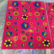 2 COMPLETE  S757 S496 Lisa Frank Smiley Face Flower Spiders Sticker Sheets image 1