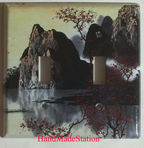 Famous Chinese Landscape Painting Light Switch Outlet Duplex Wall Cover Plate image 4