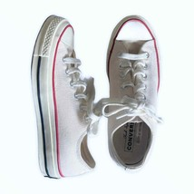 Converse Chuck Taylor White Canvas Platform All Star Sneakers Women's Si... - $39.95