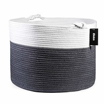 "Woven Cotton Rope Basket,Elekin Large Toy Storage Baskets 17.7""x17.7""x13... - $34.17"