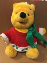 Winnie The Pooh 1996 Christmas Stuffed Animal Plush Mattel - $14.85