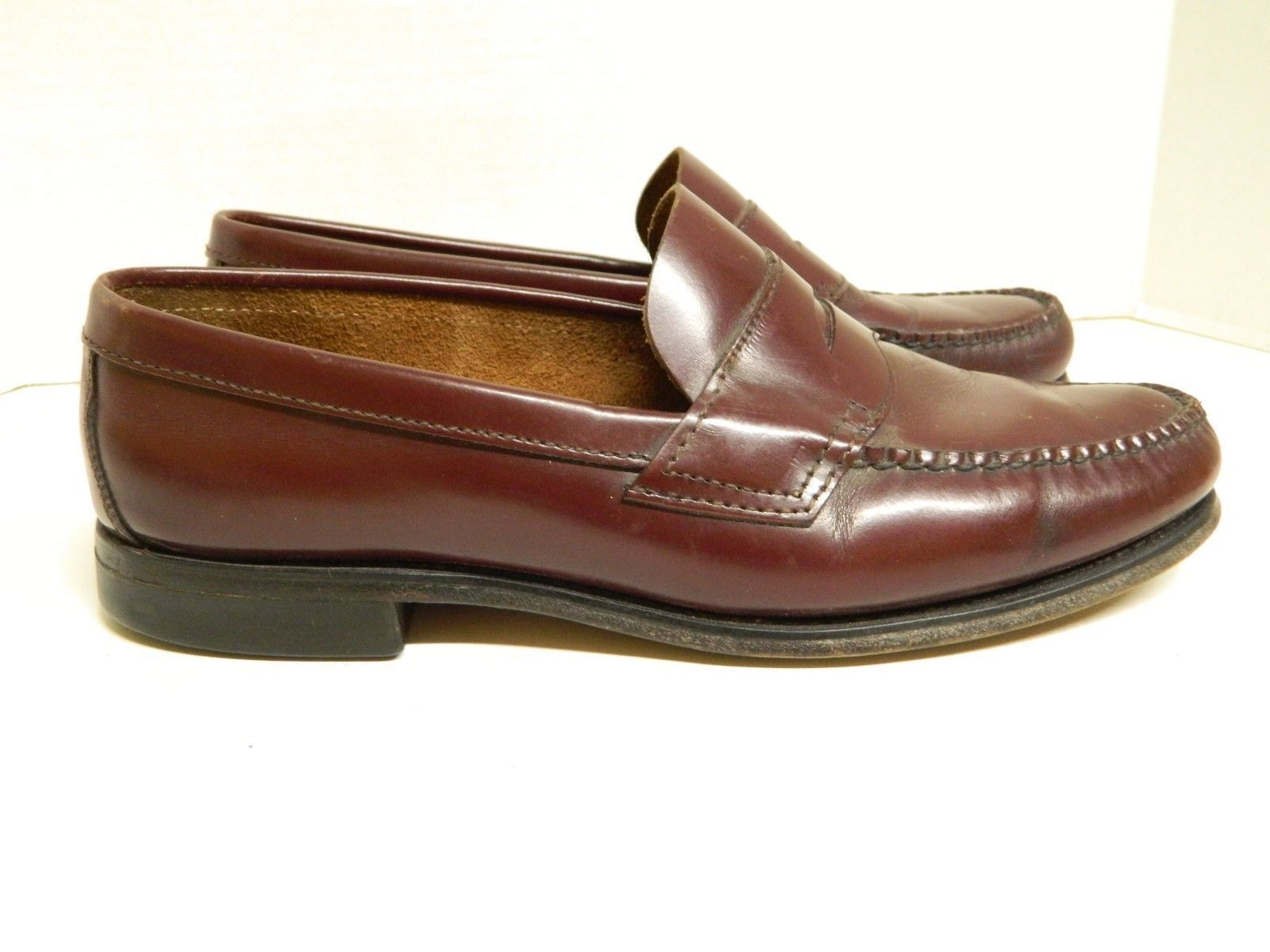 b6f0c34b939 ... Vintage LL Bean Men s Classic Penny Loafers Size 11D Cordovan Made in  ...