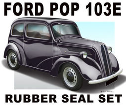 1948 Ford Anglia Rubber Trim Set - Ford Pop 103E - $264.00