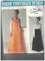 1651 Vintage Vogue Nähmuster Mantel Kleid Simonetta Couturier Design 196... - $35.97