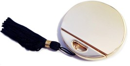 Double Mirror Compact Round With Tassel Goldtone - $12.99