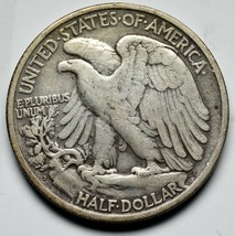 1920S Walking Liberty Half Dollar 90% Silver Coin Lot# A 228 image 2