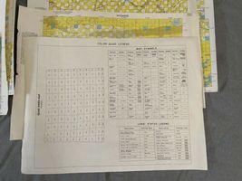 "Vintage 1980 Lot (8) Wyoming Quad Index Map US Dept of Interior 22x16.5"" 2 Sided image 4"