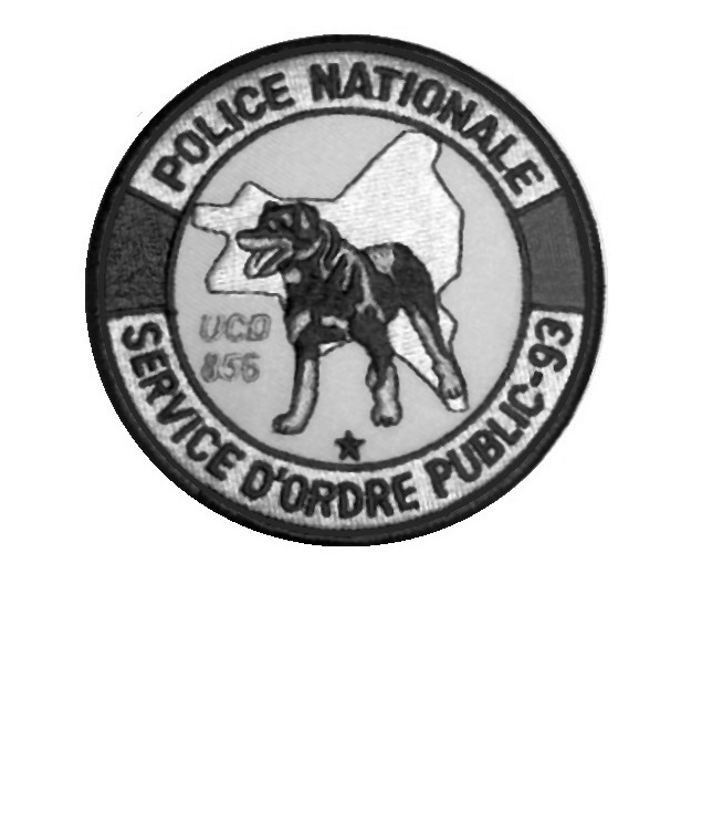 saint denis 93 unit  cynophile ucd 856 french national police tactical grey 3.75 x 3.75 in 9.99
