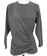 GIVENCHY Sweater Knit Grey Long Sleeve Pullover Sz M VINTAGE - $213.75